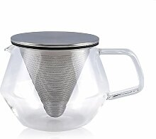 Kinto Carat Teekanne aus Glas mit Filter in cciaio