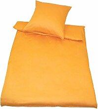 Kinzler Bettwäsche Baumwolle gelb 40x80 + 155x200