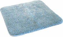 Kinzler J-10003/16 hochwertige Mikrofaser Badematte Uni ohne Ausschnitt 50x55 cm, flusenfrei, pflegeleicht, hellblau