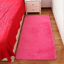 Kiomia Teppich (120×160cm)Schlafzimmer weich Shaggy leicht zu reinigen Teppich in 5 Farben erhältlich , Pink