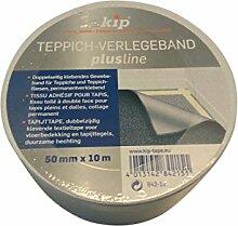 Kip Teppich-Verlegeklebeband 50mm x 10m doppelseitiges Klebeband Teppich verlegen