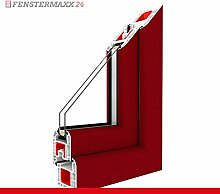 Kippfenster Dunkelrot / PVC , Glas:3-Fach, BxH:1100x1000
