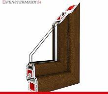 Kippfenster Nussbaum / PVC - Glas:2-Fach, BxH:1400x400