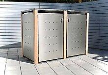 KIRCHBERGER METALL Mülltonnenbox bis 240 Liter