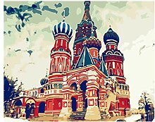 Kirchenszene Handgemalte Wandbilder Von Digitalen