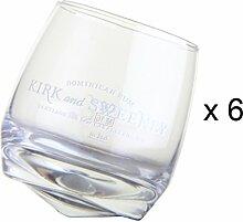 KIRK AND SWEENEY Rum Glas 6er Se