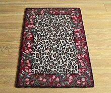Kirsch Leopard Mats Fußmatte Teppich Fußmatte Schlafzimmer Handgemachte Wolle Dicker Antirutschmatten