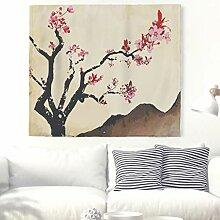 Kirschblüte Malerei Wandteppich Traditionelles