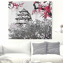Kirschblüte Turm Wandteppich Japanisch Marelei
