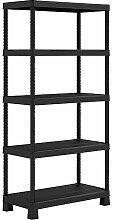 KIS Plus Tribac Bücherregal in schwarz, schwarz,