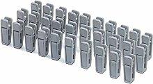 KISEER Kunststoff-Kleiderbügel-Clips, 40 Stück,