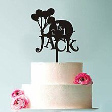 KISKISTONITE Cake Topper, 1. Elefant Geburtstag