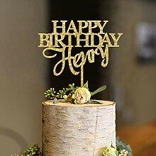 KISKISTONITE Cake Topper, Benutzerdefinierte Happy