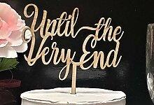 KISKISTONITE Cake Topper, Bis zum Schluss Hochzeit