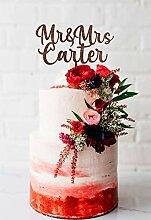 KISKISTONITE Cake Topper, Nachname Hochzeitstorte