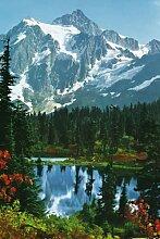 KiSS! Fototapete Mountain Peak 4-Teilig - Größe