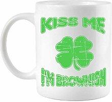 Kiss Me I'm Brownish St. Patrick's Day Mug