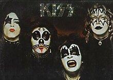 Kiss Rock Metal 6 Great-Album Cover, Musik-Band-Motiv mit Bilderrahmen, für A4