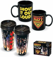 Kiss Travel & Ceramic Mug - by KISS