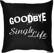 Kissen ::: Goodbye Single Life ::: Schwarz