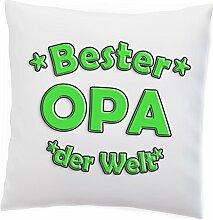 Kissen 'Bester PAPA MAMA OMA OPA' Spaß Geburtstag Kissenschlacht Beste Lieblings Vatertag Muttertag Geschenkidee, Design:Design 4, Kissen:Premiumkissen