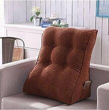 Kissen-abnehmbare Dreieck Bedside Kissen Neck Taille Kissen Rückenlehne Office Lendenwirbel Kissen Kissen Sofa Bett Rückenlehne ( Farbe : B4 , größe : 45*55cm )
