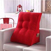 Kissen-abnehmbare Dreieck Bedside Kissen Neck Taille Kissen Rückenlehne Office Lendenwirbel Kissen Kissen Sofa Bett Rückenlehne ( Farbe : B2 , größe : 45*55cm )