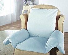 Kissen-Auflage mit Armlehnen, bequem und angenehm weich,geeignet für Armsessel und Rollstühle, zur Schmerzlinderung blau