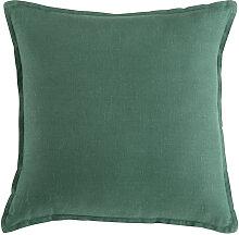Kissen aus gewaschenem Leinen basilikumgrün 45x45