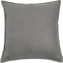 Kissen aus grobem Leinen, grau, 45x45