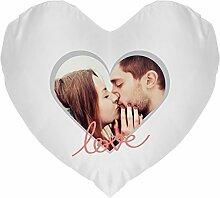 Kissen bedrucken - Herzkissen mit eigenem Foto