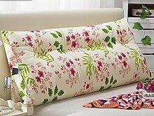Kissen Bett weichen Beutel Doppel dreieckige Kissen Kissen Bett große Kissen zurück zu waschbar ( Farbe : B2 , größe : 150X22X50cm )