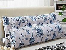Kissen Bett weichen Beutel Doppel dreieckige Kissen Kissen Bett große Kissen zurück zu waschbar ( Farbe : A7 , größe : 100*22*50cm )