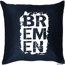 Kissen BREMEN Witziges Zusatzkissen mit Füllung