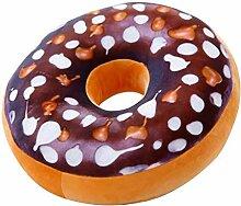 Kissen Donut Niedliches Donut-Kissen Schokoladen