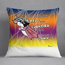 Kissen-Einhorn 2-farbig unicorn Kuschelkissen
