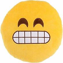 Kissen Emoji Plüsch ' Grimasse '