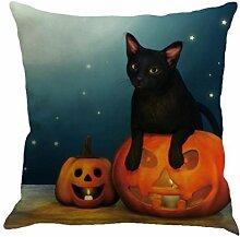 Kissen Fall Leinen Sofa Halloween Festival Dekoration (E, Mehrfarbig)