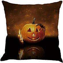 Kissen Fall Leinen Sofa Halloween Festival Dekoration (F, Mehrfarbig)