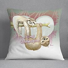 Kissen-Faultier sloth 2-farbig unicorn