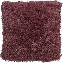 Kissen Fluffy 45x45 bordeaux - Dekokissen