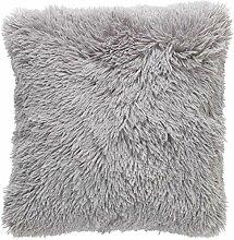 Kissen Fluffy 45x45 mitte grau - Dekokissen Zierkissen Heimtextilien Deko Kissen