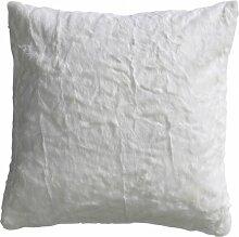 Kissen Fluffy 50x50cm weiß, 2er Se