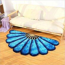 Kissen für Kinder Einfache Teppich blau 3d