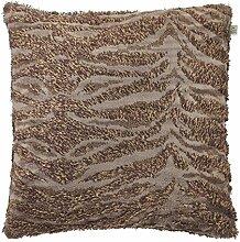Kissen Hairy 45x45 cm braun