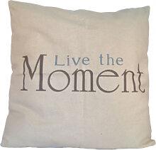 Kissen - Kissenhülle Live the Moment inkl. Kissenfüllung