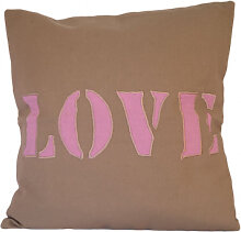 Kissen - Kissenhülle Love (beige) inkl. Kissenfüllung
