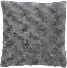 Kissen Lugga 45x45 cm dunkel grau - Dekokissen