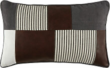 Kissen mit farbigem Patchwork-Muster, 30x50
