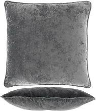 Kissen mit Füllung FREY 45x45cm dark grey grau
